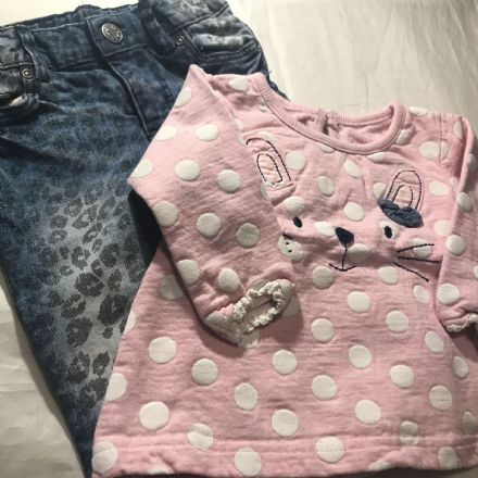 3-6 Month Mixed Jeans Set
